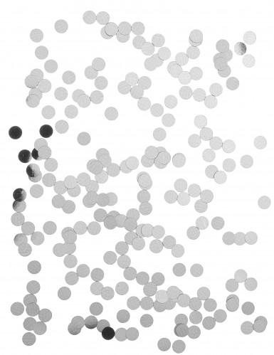 Confettis de table ronds argent 1.2 cm-1