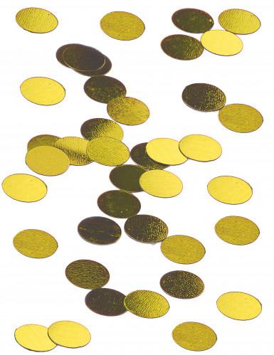 Confettis de table ronds dorés 1.2 cm