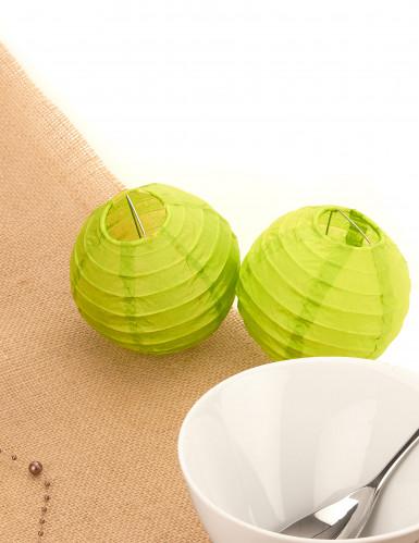 2 boules de décoration vert anis (Dia. 10 cm)-1