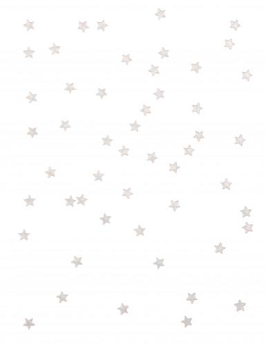 48 Etoiles miroir blanches 1 cm-1