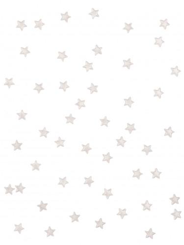 48 Etoiles miroir blanches 1 cm