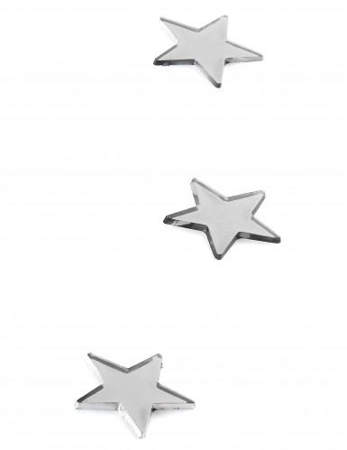 10 mini miroirs étoiles argentés-1