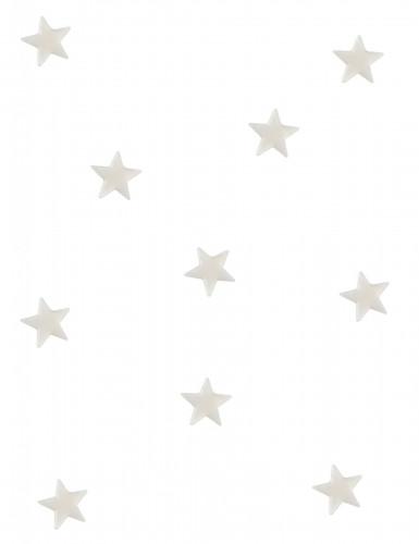 10 mini miroirs étoiles blancs