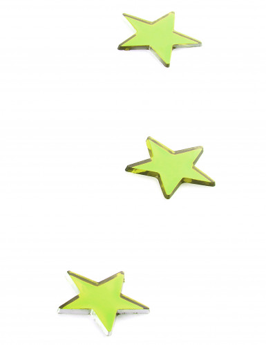 10 mini miroirs étoiles verts-1