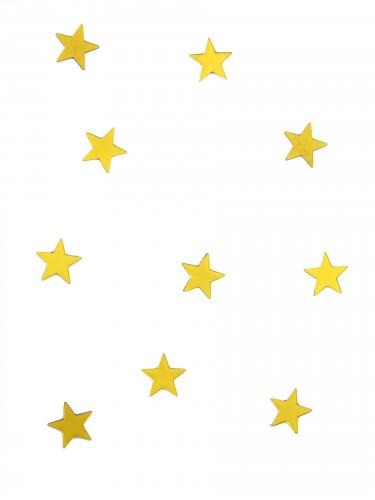 10 mini miroirs étoiles jaunes