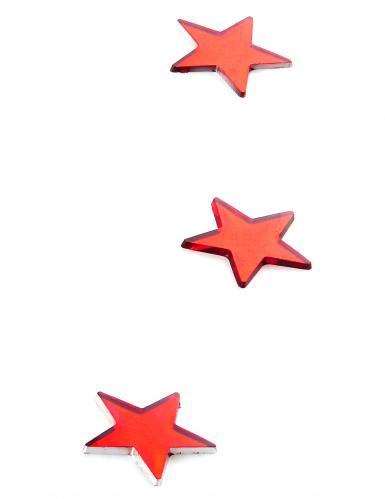 10 mini miroirs étoiles rouges-1