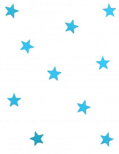 10 mini miroirs étoiles turquoise