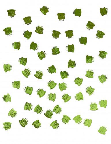 Confettis de table forme gâteau d'anniversaire vert-1