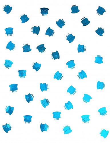 Confettis de table forme gâteau d'anniversaire turquoise-1