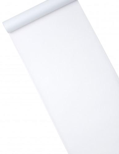 Chemin de table intissé uni blanc 10 m
