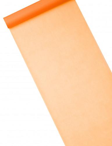 Chemin de table intissé uni orange 10 m