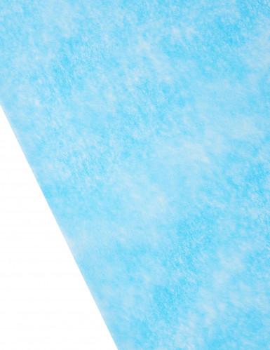 Chemin de table intissé uni turquoise-1