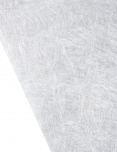 Chemin de table intissé métallisé argenté-1