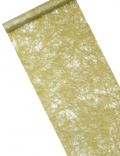 Chemin de table intissé métallisé vert