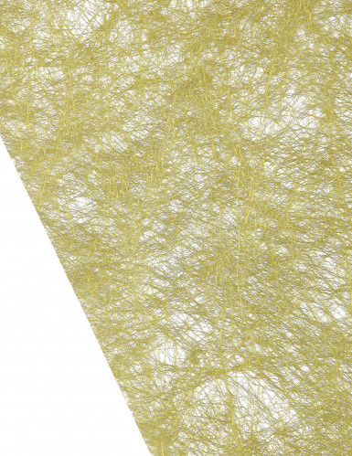 Chemin de table intissé métallisé vert-1