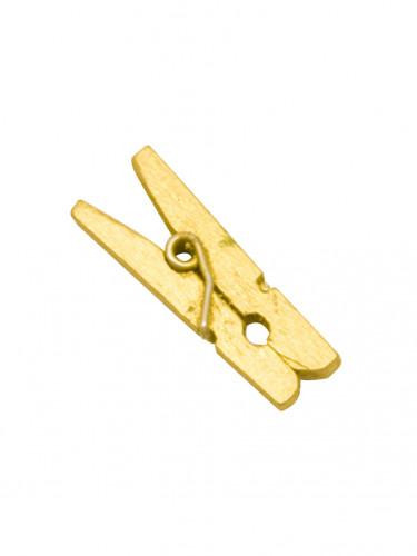 10 Mini pinces à linge en bois dorées 2.5 cm