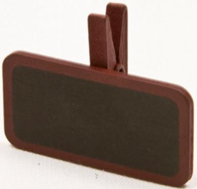 6 pinces à linge avec une mini ardoise bordeaux