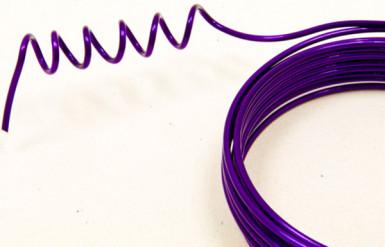 Fil d'aluminium violet