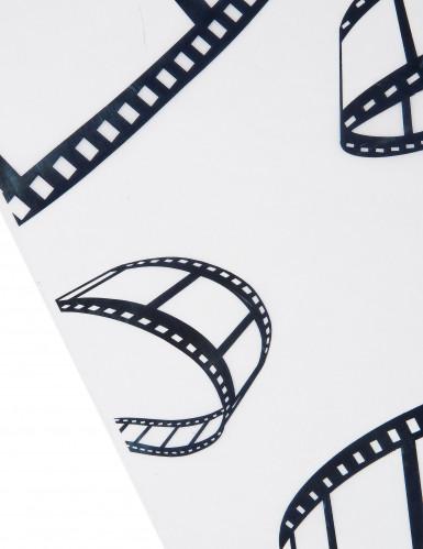 Chemin de table cinéma blanc motifs noirs-1