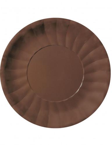 10 Assiettes plates Modus Marron (29 cm)
