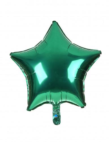Ballon étoile verte 46 cm