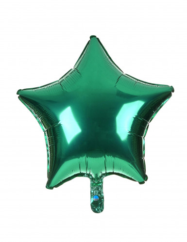 Ballon aluminium étoile verte 46 cm
