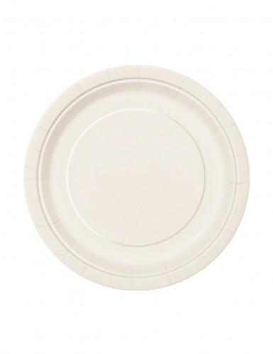 8 Petites assiettes ivoire en carton 18 cm