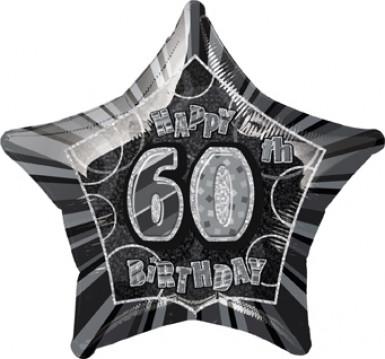 Ballon étoile gris Age 60 ans