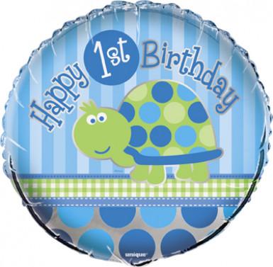 Ballon First birthday bleu