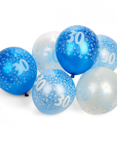 Ballons bleus Age 30 ans
