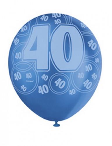 Ballons bleus Age 40 ans-2