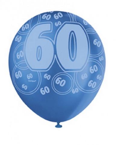 Ballons bleus Age 60 ans-2