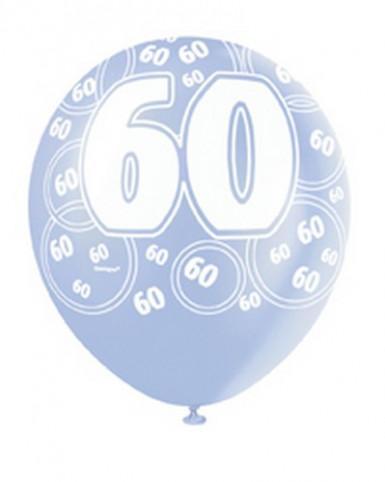 Ballons bleus Age 60 ans-1