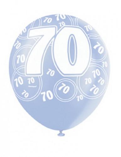 Ballons bleus Age 70 ans-2