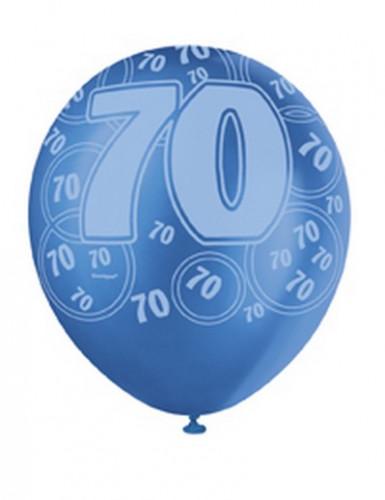 Ballons bleus Age 70 ans-1
