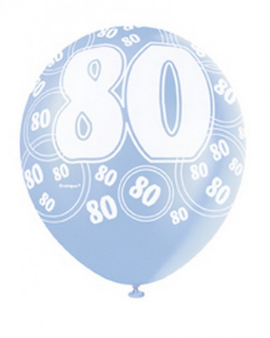 Ballons bleus Age 80 ans