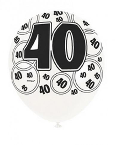 Ballons gris 40 ans-1