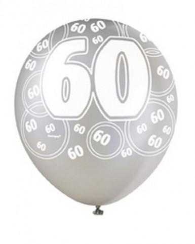 Ballons gris 60 ans
