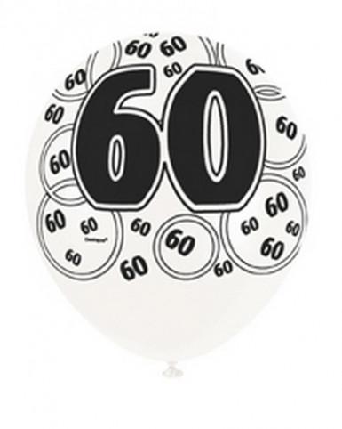 Ballons gris 60 ans-1