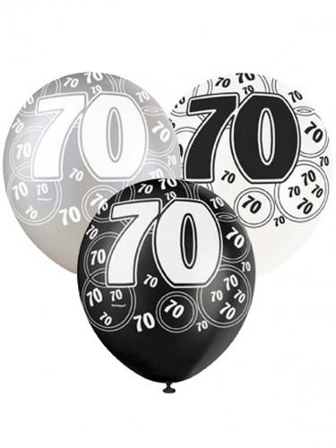 Ballons gris 70 ans