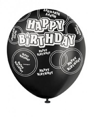 Ballons gris Happy Birthday-2