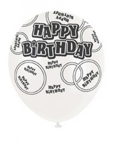 Ballons gris Happy Birthday-1
