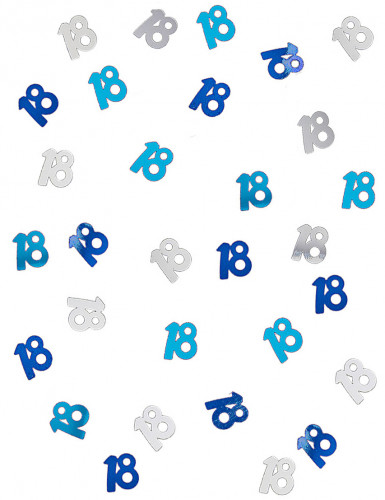 Confettis bleu/gris Age 18 ans