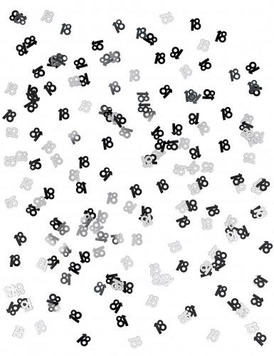Confettis gris/noir Age 18 ans-1