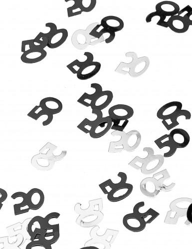 Confettis gris/noir Age 50 ans