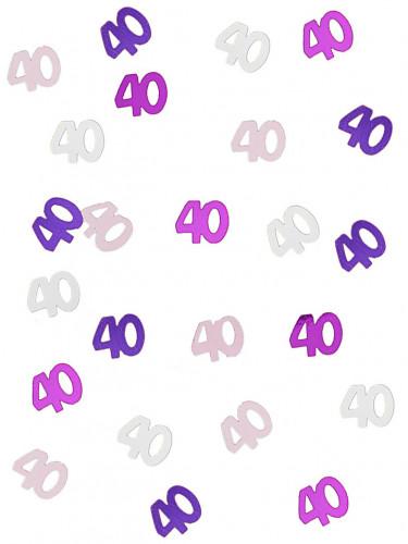 Confettis rose/gris Age 40 ans