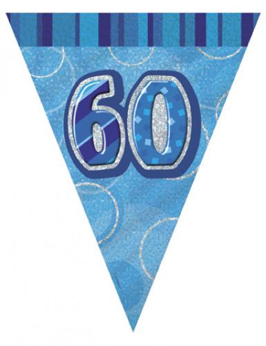 Guirlande Fanions bleue Age 60 ans
