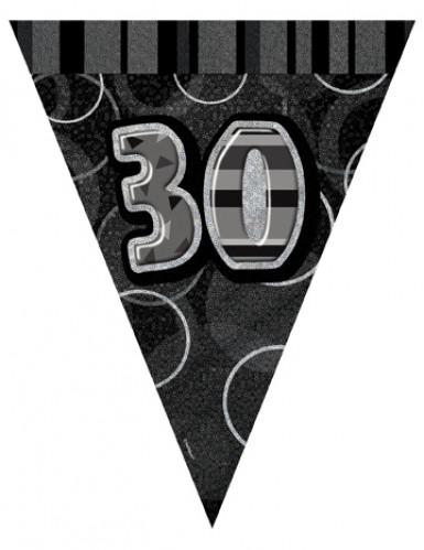 Guirlande Fanions gris Age 30 ans