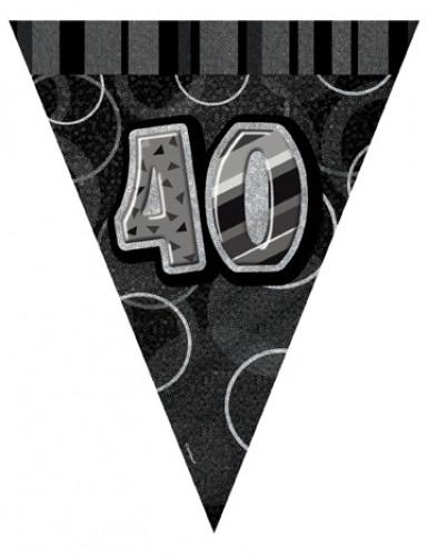 Guirlande Fanions gris Age 40 ans