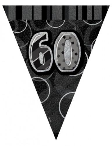 Guirlande Fanions gris Age 60 ans